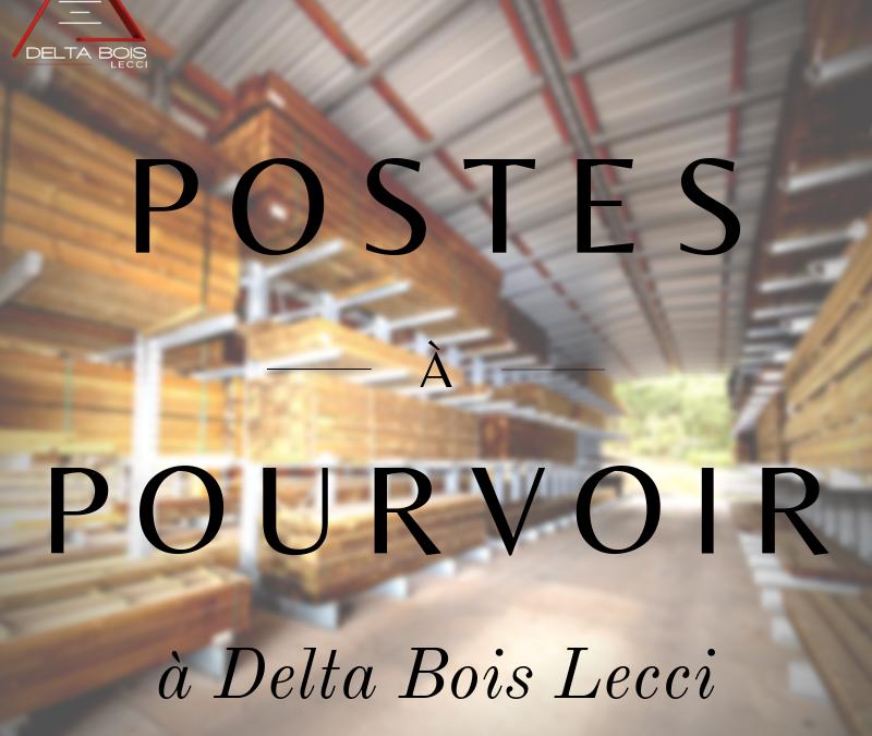 Delta Bois Lecci recrute !