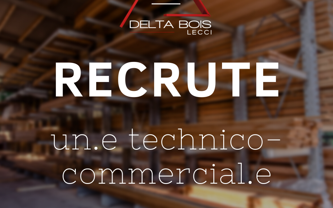 Delta Bois Lecci recrute un technico-commercial bois (CDI)
