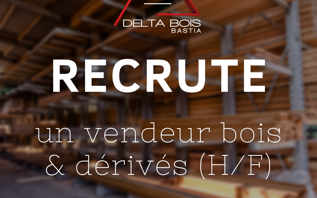 Delta Bois Bastia recrute un magasinier/vendeur (H/F)